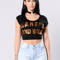 Wanted And Wild Tee - Black