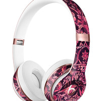 Pink and Wine Damask Watercolor Pattern Full-Body Skin Kit for the Beats by Dre Solo 3 Wireless Headphones
