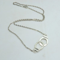 New Fashion jewelry Handcuffs choker pendant necklace Women/Girl lover Valentine's Day gifts