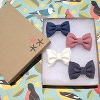 Mix and match small hair bow lot of 4. Make by theSeasideSparrow