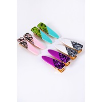 Glitter Granite Clip Set