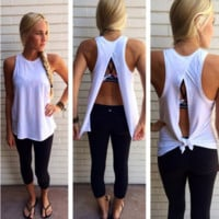 Split Back  Loose Cotton Top