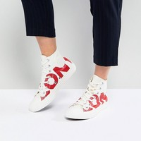 Converse Chuck Taylor All Star Hi Sneakers With Large Logo at asos.com