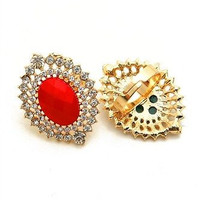 The Rhinestone and Colored Stone Adjustable Rings