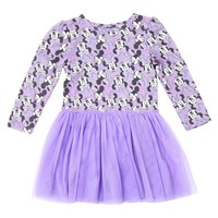Toddler Girls' Minnie Mouse A line dresses - Lilac