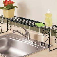 WalterDrake Expandable Over the Sink Shelf
