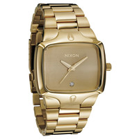 Nixon A140509 Men's The Player Gold Dial Gold Tone Steel Diamond Watch