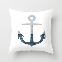 anchor Throw Pillow by McKenzie Nickolas (kenzienphotography)