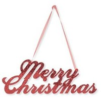 Merry Christmas Glitter Sign, each