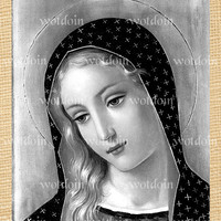 Mother Mary Blessed Mother Religion Jesus Church Beautiful Instant Download Image Transfer
