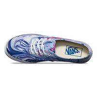 Vans Marble Authentic Lo Pro (blue/true white)