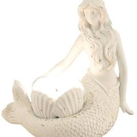 Young's Resin Mermaid Tealight Candle Holder, 6.25-Inch
