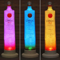 1 Liter Ciroc Peach Vodka Color Changing LED Remote Control Eco Friendly Bottle Lamp French Vodka -Bodacious Bottles-