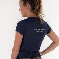 Showjumping & Champagne Navy Quote T-Shirt