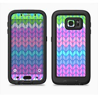 The Bright-Colored Knit Pattern Full Body Samsung Galaxy S6 LifeProof Fre Case Skin Kit