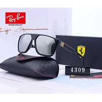 RayBan Ray-Ban x Ferrari Stylish Men Women Cool Summer Sun Shades Eyeglasses Glasses Sunglasses 1#