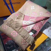 LV Louis Vuitton Fashionable Women Warmer Jacquard Cashmere Cape Scarf Scarves Shawl Accessories