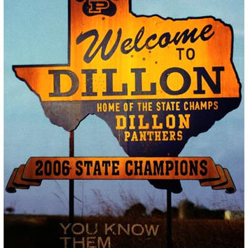 Friday Night Lights Dillon Welcome Sign Poster 11x17