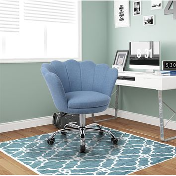 Desk chair with wheels - Blue Velvet