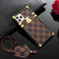 LV Louis vuitton new personality iPhone 11 mobile phone case cover