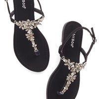 ModCloth Statement Shine Like You Mean It Sandal in Black