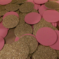 Gold and Pink Party Confetti, Decor,