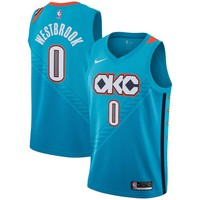 Men's Oklahoma City Thunder Russell Westbrook Nike Turquoise 2018/19 Swingman Jersey – City Edition - Best Deal Online