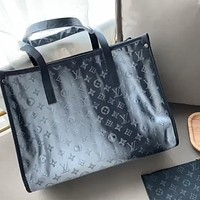 LV laser printed letter shopping bag mother bag two-piece set