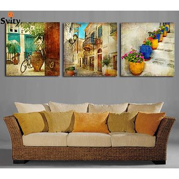 TXFMT No Frame Canvas Decoration Painting Handmade DIY Canvas Poster Modern Home Decoration 5 Panel Cool Mustang Luxury car Printing Painting Building Wall Artwork Modular Picture Living Room 5 Piece