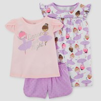 Baby Girls' 3pc Pajama Set - Just One You™ Made by Carter's® Purple