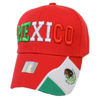 * Mexico Flag Design Cap In Red