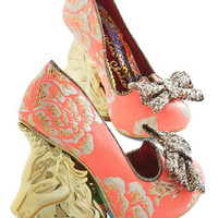 Irregular Choice Statement Moments of Magic Heel in Coral