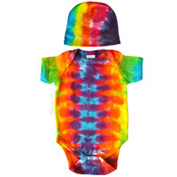 Rainbow Spiral Tie Dye Baby Gift Set Romper on Sale for $19.99 at HippieShop.com