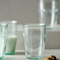 Euro Milk Glasses by Anthropologie in Clear Size: Set Of 4 Kitchen