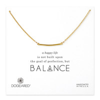 Dogeared, Balance Medium Square Bar Necklace, Gold Dipped 18 inch