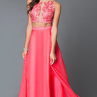 Two Piece Dave and Johnny 2043 Prom Dress