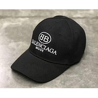 Balenciaga 2018 new double BB letter men and women sun protection sunscreen cap F-A-KEN-CP Black
