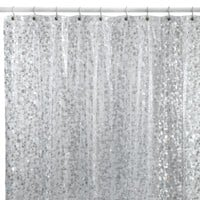 Pebbles Shower Curtain in Silver