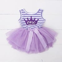 Ai Meng Baby Flower Girls Princess First Birthday Outfits One Two Three Years Old Birthday Baby Toddler Dresses Clothes Striped