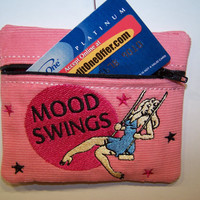 Mood Swings Credit Card Case,  Gift Card or ID Holder, and Change Purse - Retro Look