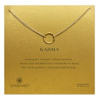 Women's Dogeared 'Karma' Two-Row Pendant Necklace