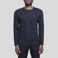 Marbled Wool Long Sleeve / Black