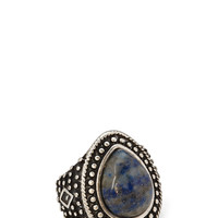 Etched Earth Stone Ring