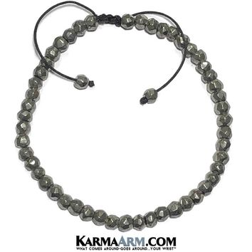 ABUNDANCE | Pyrite Adjustable | Yoga Chakra Meditation Bracelet
