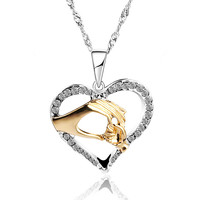 Mother & Child Cubic Zirconia Necklace / A Perfect Mother's Day Gift!