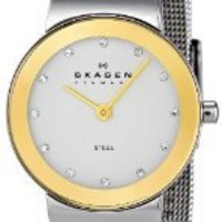 Skagen Women's 358SGSC Steel Collection Crystal Accented Mesh Stainless Steel Mirror Dial Watch