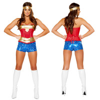 Wonder Women Sexy Costume Roma Heroine Hottie Captain Hero America Halloween Costumes Superwoman Cosplay