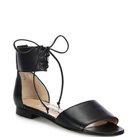 Kevo Leather Ankle-Tie Sandals