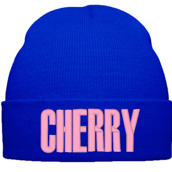 BEYONCE CHERRY BEANIE HAT