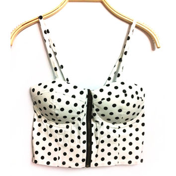Vintage Padded Bustier Cropped Top